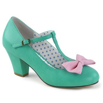 Retro T-Riemchen Pumps WIGGLE-50 - Mint