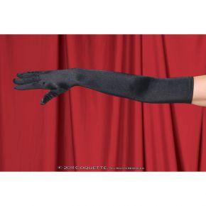 Satin Handschuhe - Schwarz