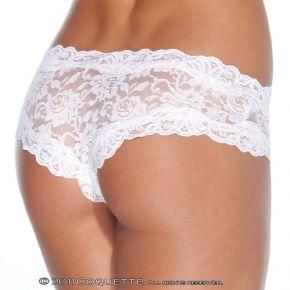 Spitzen-Panty ouvert - Weiß*