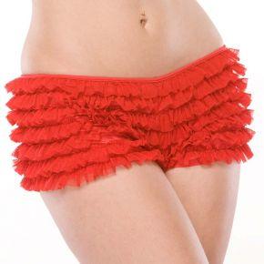 Rüschenhöschen Panty mit Schleife - Rot