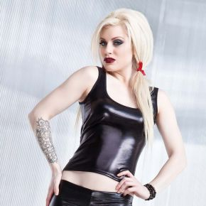 Wetlook Tank Top  - Schwarz