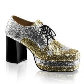 Herren Plateauschuh GLAMROCK-02 - Gold Glitter