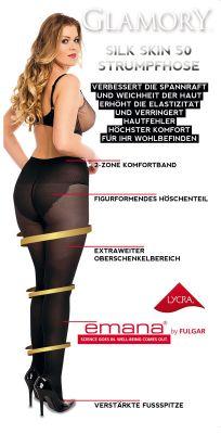 Figurformende Emana Strumpfhose SILK SKIN 50 - Schwarz*