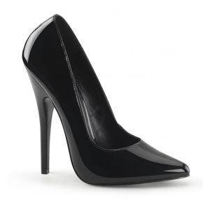 Extrem High Heels DOMINA-420 - Lack Schwarz