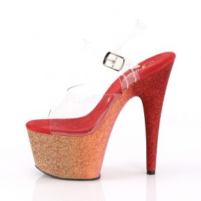 Plateau High Heels ADORE-708OMBRE - Gold/Rot
