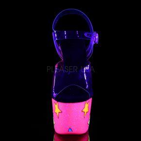 Plateau High Heels ADORE-708UVGSTR - Neon Pink