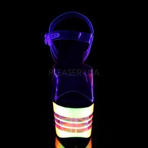 Plateau Sandalette ADORE-708UVLN - Neon Mehrfarbig/Klar