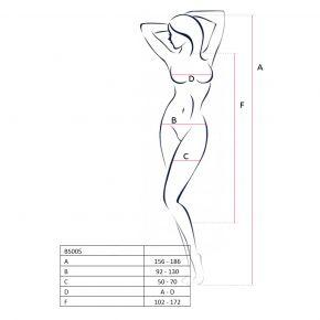 Ärmelloser Bodystocking BS005 - Schwarz*