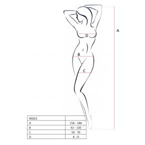 Neckholder Bodystocking Ouvert BS022 - Schwarz*