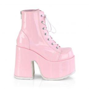 Gothic Stiefelette CAMEL-203 - Baby Pink Hologramm