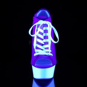 Canvas High Heel Sneakers DELIGHT-600SK-01 - Rosa