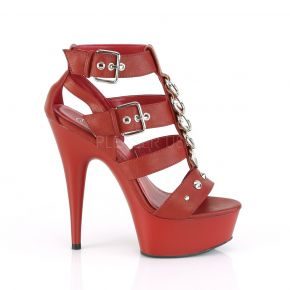 Plateau High Heels DELIGHT-658 - Rot