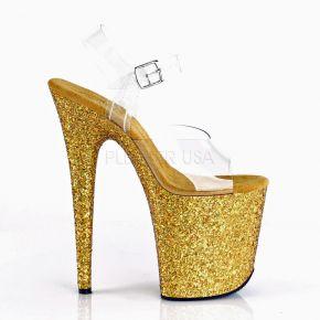 Extrem Plateau Heels FLAMINGO-808LG - Gold