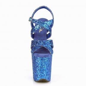 Extrem Plateau Heels FLAMINGO-897LG - Glitter Blau