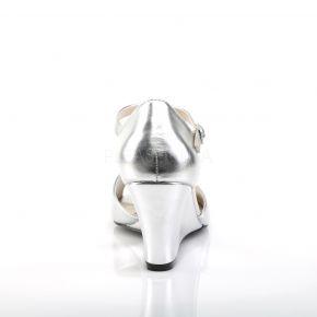 Wedges KIMBERLY-05 - PU Silber Metallic