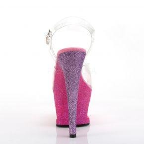 Plateau High Heels MOON-708OMBRE - Pink/Lavendel