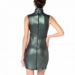 Wetlook Minikleid UZI - Khaki