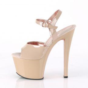 Plateau High  Heels SKY-309TT - Nude/Rosé Gold