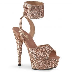 Plateau High Heels DELIGHT-691LG - Rosé Gold